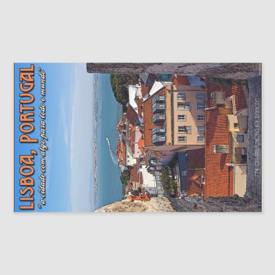 Lisbon - Boat on the Tejo Rectangular Sticker