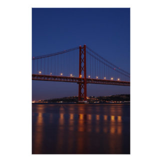 Lisbon Bridge - April 25th (Night) Poster