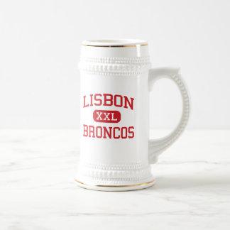 Lisbon - Broncos - Middle - Lisbon North Dakota 18 Oz Beer Stein