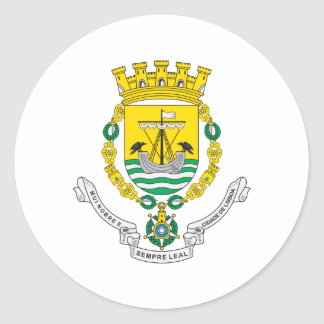 Lisbon Coat Of Arms Classic Round Sticker