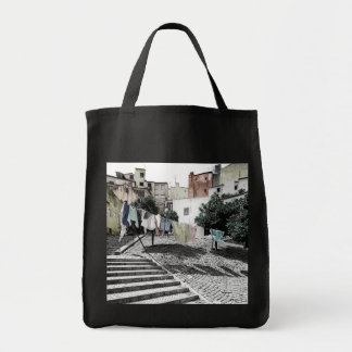 LISBON (LAUNDRY LINE) Grocery Tote Bag