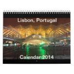 Lisbon, Portugal Calendar 2014