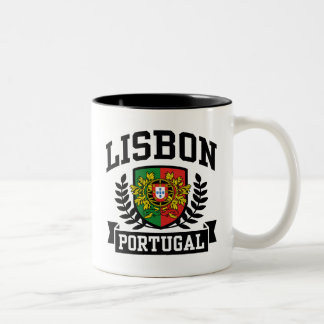 Lisbon Portugal Two-Tone Coffee Mug