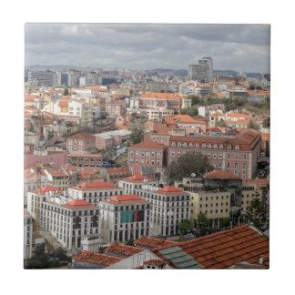 Lisbon rooftop skyline tile