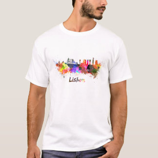Lisbon skyline in watercolor T-Shirt