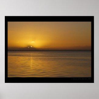 Lisbon Sunrise 001 Poster