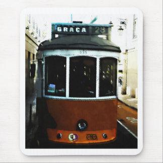 Lisbon tram closeup mouse pad