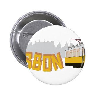 Lisbon Tram Pinback Button