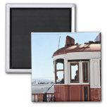 Lisbon tram, red refrigerator magnet