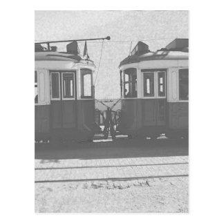 Lisbon trams postcard
