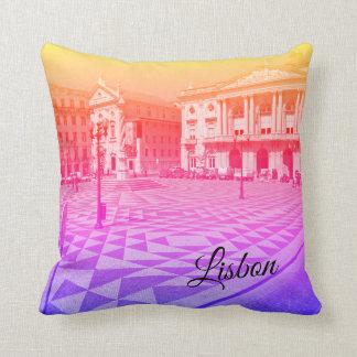 Lisbon Travel Collection Throw Pillow