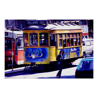 Lisbon trolley poster