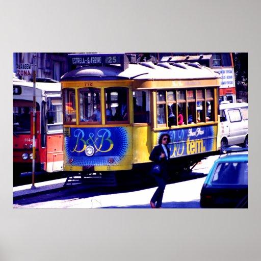 Lisbon trolley print
