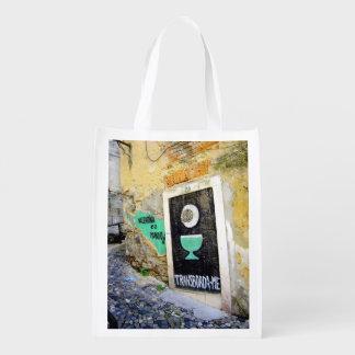 LISBON URBAN GRAFFITI PHOTOGRAPH GROCERY BAG