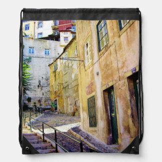 LISBON URBAN STREET (MOURARIA) Drawstring Backpack