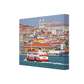 Lisbon view from Tagus river Canvas Print