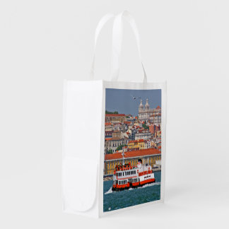 Lisbon view from Tagus river Grocery Bag