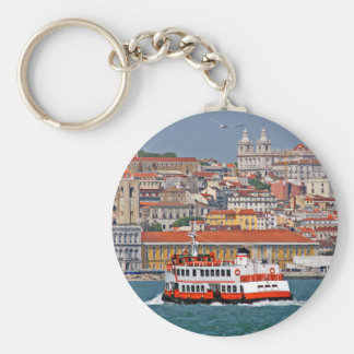 Lisbon view from Tagus River Keychain