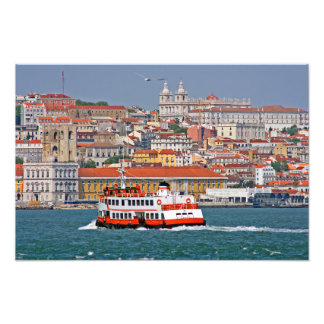 Lisbon view from Tagus river Photo Print