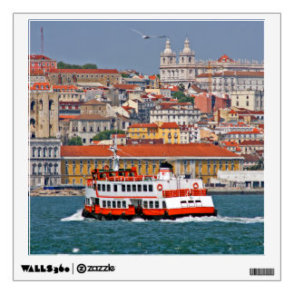 Lisbon view from Tagus river Room Stickers