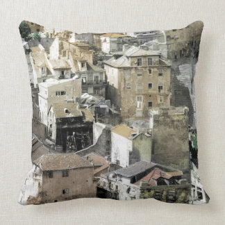 LISBON - VIEW FROM THE CASTLE THROW PILLOWS