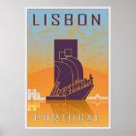 Lisbon vintage poster