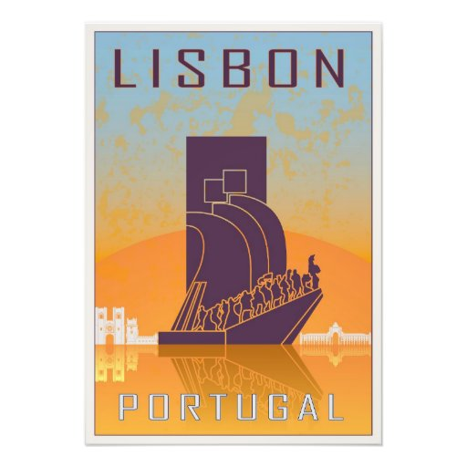 Lisbon vintage poster fotografias