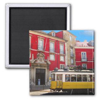 Lisbon Yellow Tram Magnet