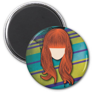 Lise Lotte goes Punk 2 Inch Round Magnet