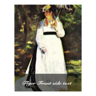 """Lise With Umbrella By Pierre-Auguste Renoir 8.5"""" X 11"""" Flyer"""