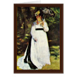 Lise With Umbrella By Pierre-Auguste Renoir Card