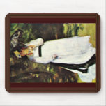 Lise With Umbrella By Pierre-Auguste Renoir Mouse Pad