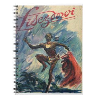 Lisez-moi, danza tribal spiral notebook