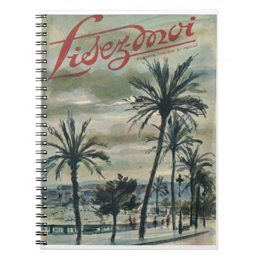 Lisez-moi, palmeras en la Riviera Libro De Apuntes Con Espiral