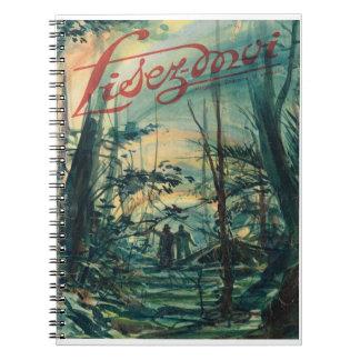 Lisez-moi, paseo de A en el bosque Libro De Apuntes