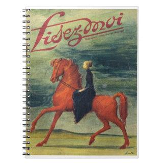 Lisez-moi, señora a caballo spiral notebooks
