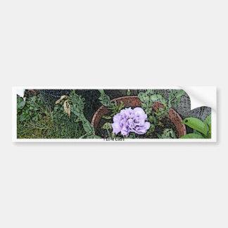 Lisianthas Flower Garden Car Bumper Sticker