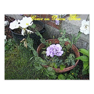 Lisianthas Flower Garden Card