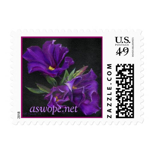 Lisianthus, aswope.net stamps