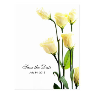 Lisianthus Simplicity Custom Wedding Postcard