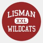 Lisman - gatos monteses - joven - Lisman Alabama Pegatina Redonda
