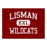 Lisman - gatos monteses - joven - Lisman Alabama Tarjetas