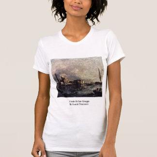 L'Isola Di San Giorgio By Guardi Francesco T-shirt
