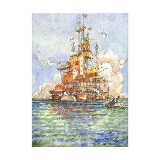 L''Isola Galleggiante Canvas Print