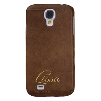 LISSA Custom Leather-look Cell Phone Case Galaxy S4 Cases