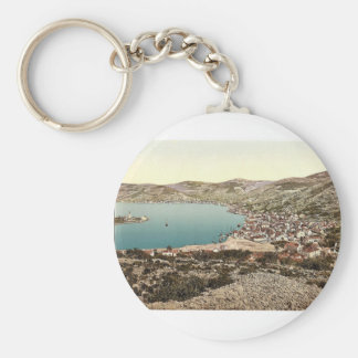 Lissa, from the west, Dalmatia, Austro-Hungary mag Keychain