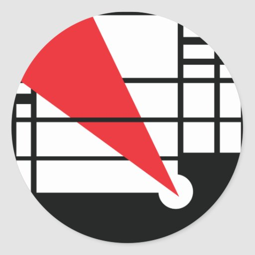 Lissitzky & Mondrain Classic Round Sticker