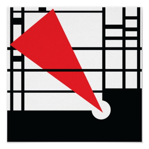 Lissitzky y Mondrian Póster