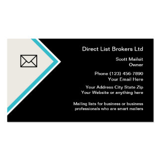 List Broker Advertising Business Cards
