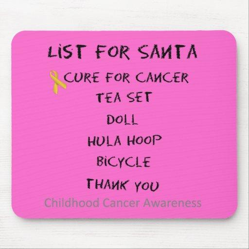 List For Santa Childhodod Cancer Awareness Mousepads